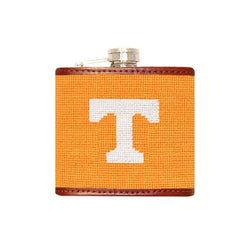 Tennessee Power T Needlepoint Flask by Smathers & Branson