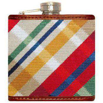 Traditional Madras Needlepoint Flask by Smathers & Branson