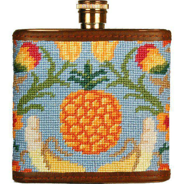 Flasks - Tropical Fruit Needlepoint Flask By Smathers & Branson