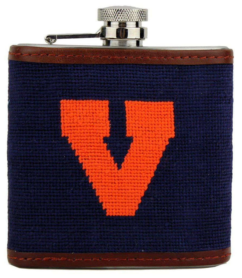 University of Virginia Old Logo Flask by Smathers & Branson