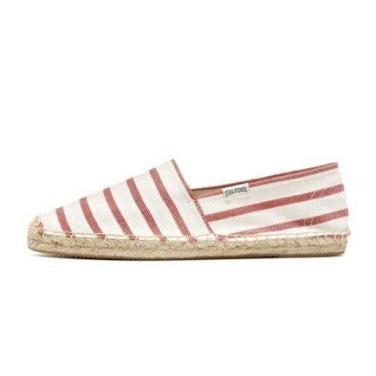 Classic Stripe Espadrille in Red and White by Soludos  - 3