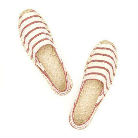 Classic Stripe Espadrille in Red and White by Soludos  - 4