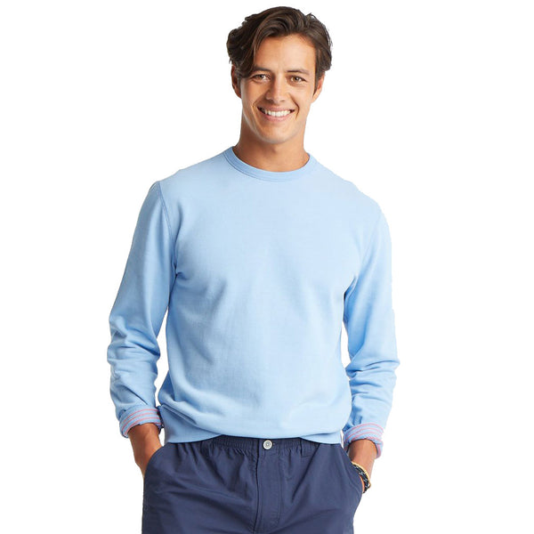 Reversible Forehand Striped Upper Deck Pullover Sweater by Southern Tide