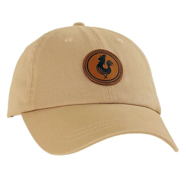 Fripp & Folly Round Embossed Logo Hat in Khaki