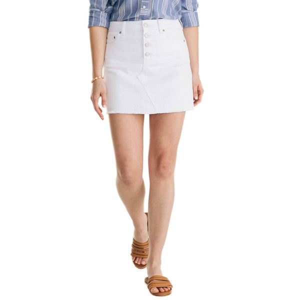 Gabriela White Denim Skirt by Southern Tide