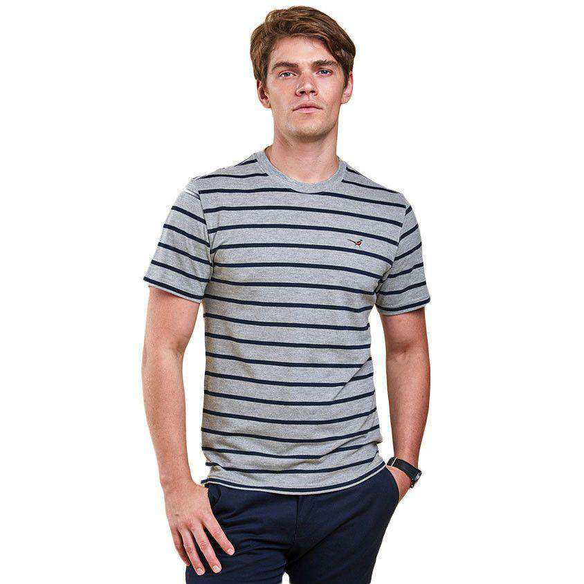 Gloucester Tee in Grey Marl by Barbour  - 1