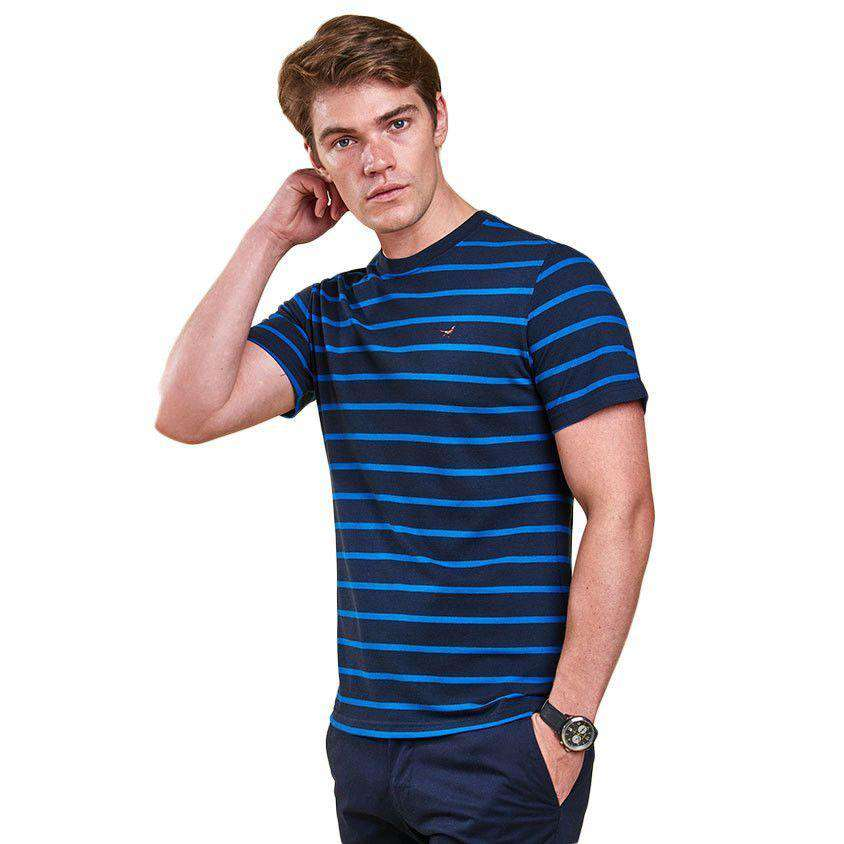 Gloucester Tee in Navy by Barbour  - 1