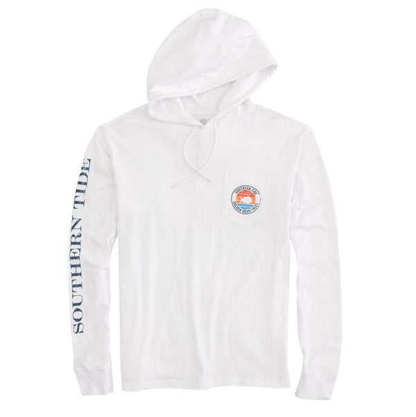 Southern Tide Golden Hour Tales Long Sleeve Hoodie T-Shirt by Southern Tide