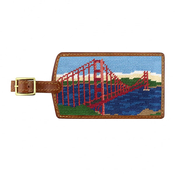 Golden Gate Scene Needlepoint Luggage Tag by Smathers & Branson