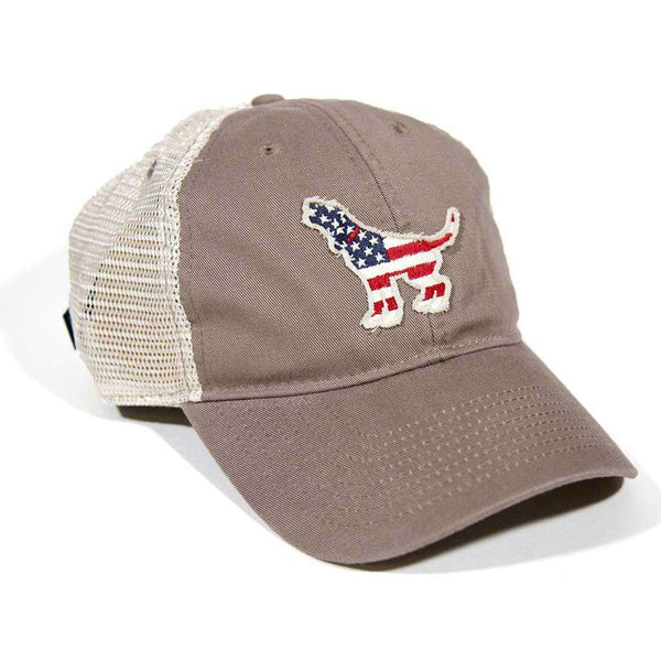 American Hound Trucker Hat in Driftwood by Southern Fried Cotton