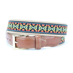 Guitar Strap Leather Tab Belt by Country Club Prep  - 1
