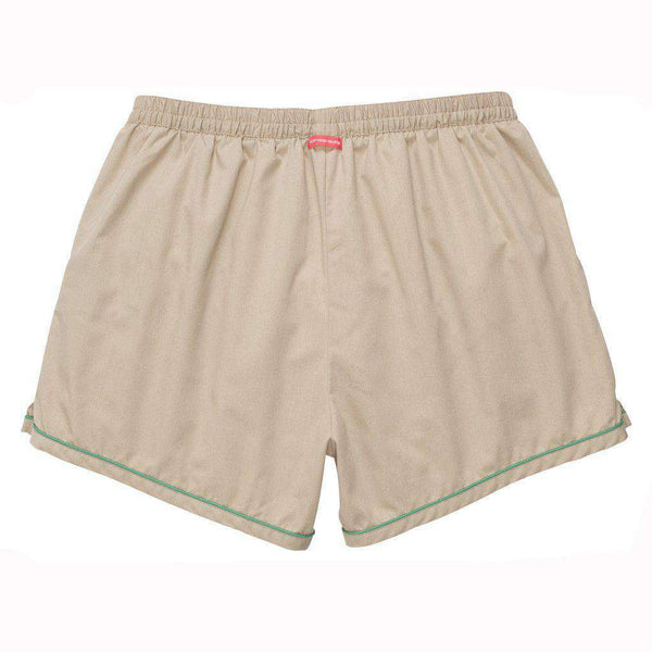 The Hackett Short in Khaki with Green by Southern Proper - FINAL SALE