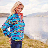 Harbuck Fleece 1/4 Zip Pullover in Blue and Navy by Southern Marsh  - 3