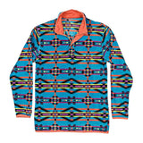 Harbuck Fleece 1/4 Zip Pullover in Blue and Navy by Southern Marsh  - 1
