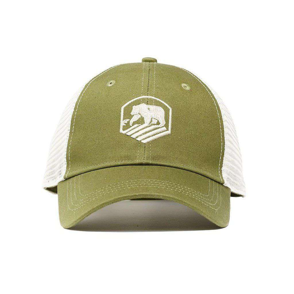 The Normal Brand Active Wear Trucker Cap in Olive – Country Club Prep d84913f0905