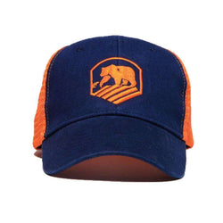 Hats/Visors - Activewear Hat In Navy And Orange By The Normal Brand