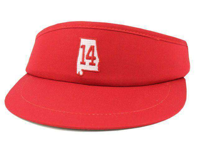 Hats/Visors - AL 14 Golf Visor In Crimson By State Traditions