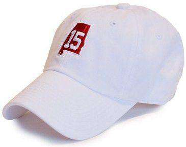 Hats/Visors - AL 15 Hat In White By State Traditions