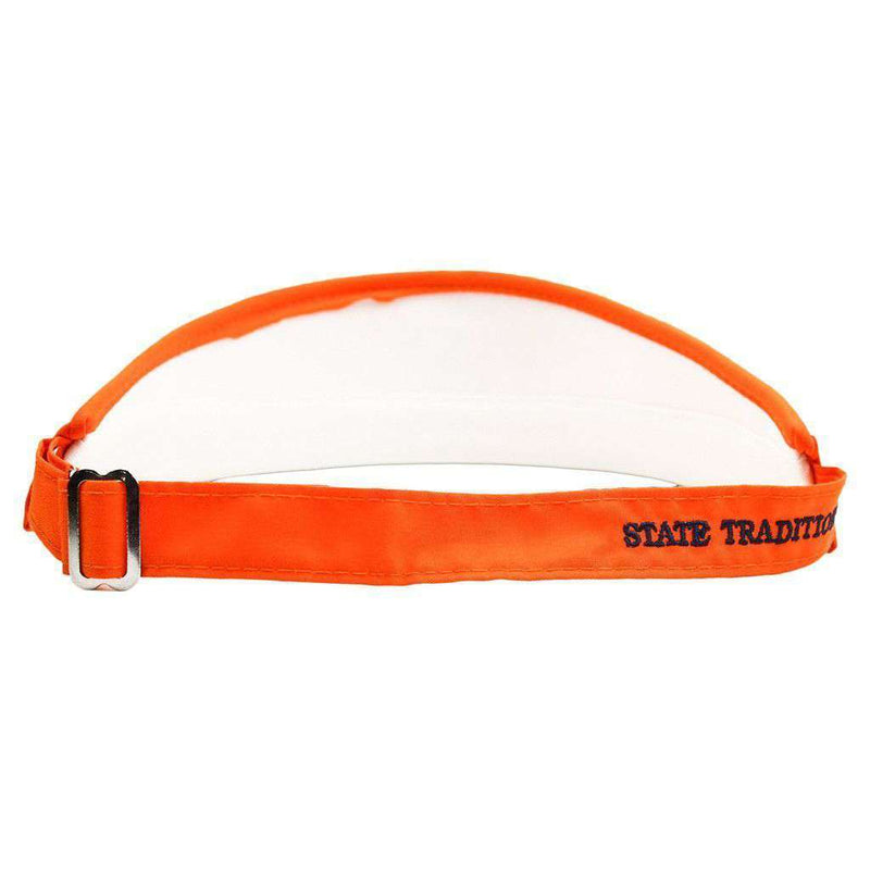 AL Auburn Golf Visor in Orange with Navy Flag by State Traditions