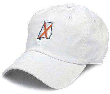 Hats/Visors - AL Auburn Traditional Hat In White By State Traditions
