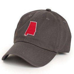 Hats/Visors - AL Tuscaloosa Gameday Hat In Grey By State Traditions