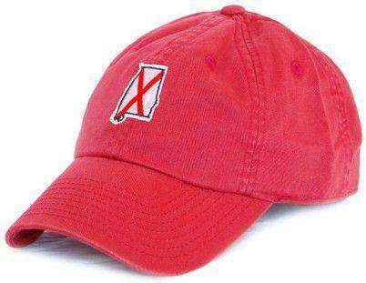 Hats/Visors - AL Tuscaloosa Traditional Hat In Crimson By State Traditions