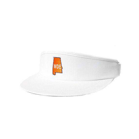 Hats/Visors - AL WDE Golf Visor In White By State Traditions