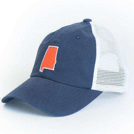 144b7526de3b70 6d773 927aa; shop hats visors alabama auburn gameday trucker hat in navy by  state traditions 60c63 92846