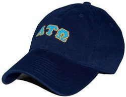 Hats/Visors - Alpha Tau Omega Needlepoint Hat In Navy By Smathers & Branson