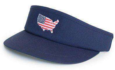 America Golf Visor in Navy by State Traditions - Country Club Prep