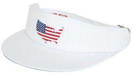 Hats/Visors - America Golf Visor In White By State Traditions