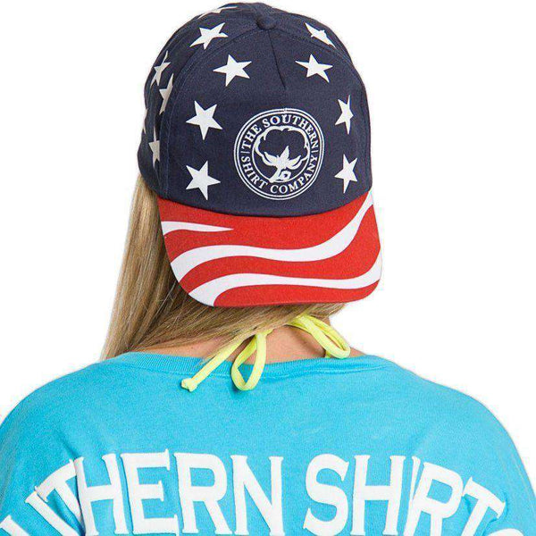America Snapback Hat in Red, White & Blue by The Southern Shirt Co. - Country Club Prep