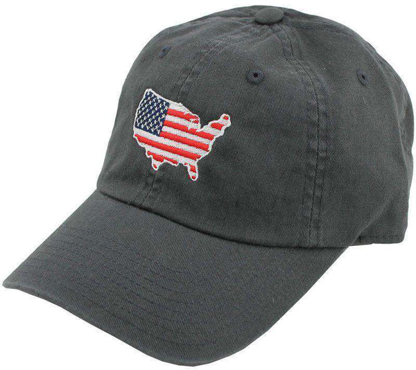 Hats/Visors - America Traditional Hat In Charcoal By State Traditions
