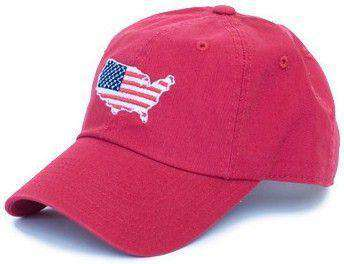 America Traditional Hat in Red by State Traditions