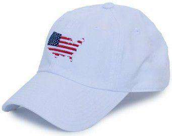 America Traditional Hat in White by State Traditions - Country Club Prep