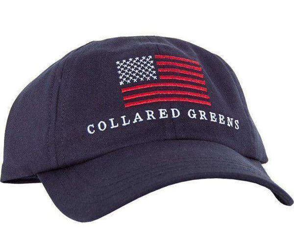 Hats/Visors - American Flag Hat In Navy By Collared Greens