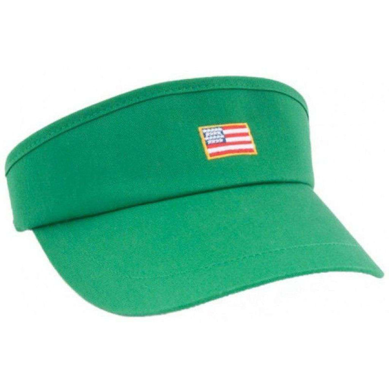Hats/Visors - American Flag Patch Visor In Green By Rowdy Gentleman