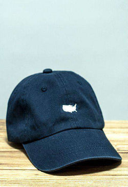 Hats/Visors - American Silhouette Golf Hat In Navy And White By Rowdy Gentleman