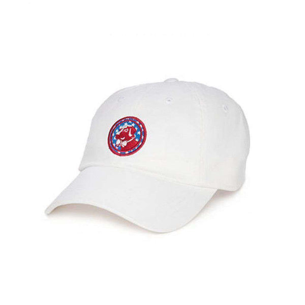 Americana Frat Hat in White by Southern Proper