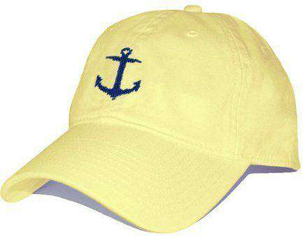 Anchor Needlepoint Hat in Butter Yellow by Smathers & Branson