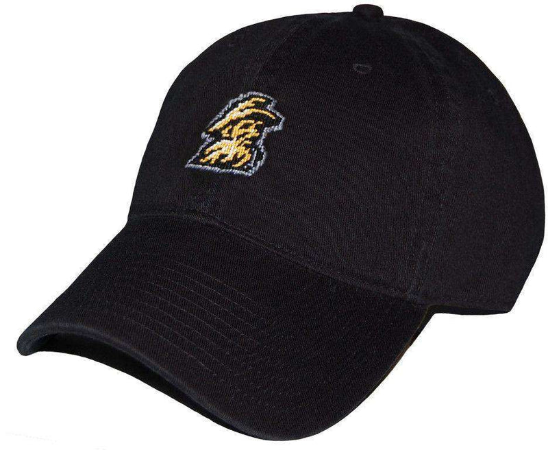 Hats/Visors - Appalachian State University Needlepoint Hat In Black By Smathers & Branson