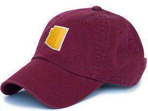 Hats/Visors - Arizona Tempe Gameday Hat In Maroon By State Traditions