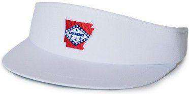 Hats/Visors - Arkansas Traditional Golf Visor In White By State Traditions