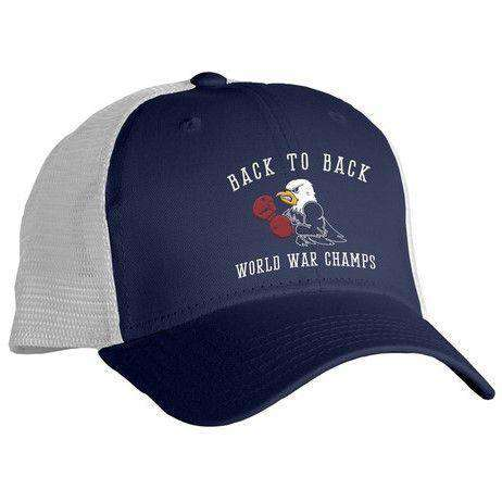 Hats/Visors - Back To Back World War Champs -Eagle Edition- Mesh Hat In Navy By Rowdy Gentleman