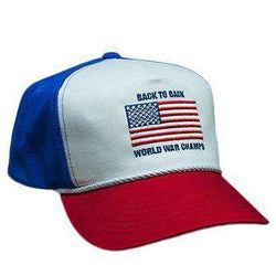 Hats/Visors - Back To Back World War Champs Rope Hat In Red, White And Blue By Rowdy Gentleman