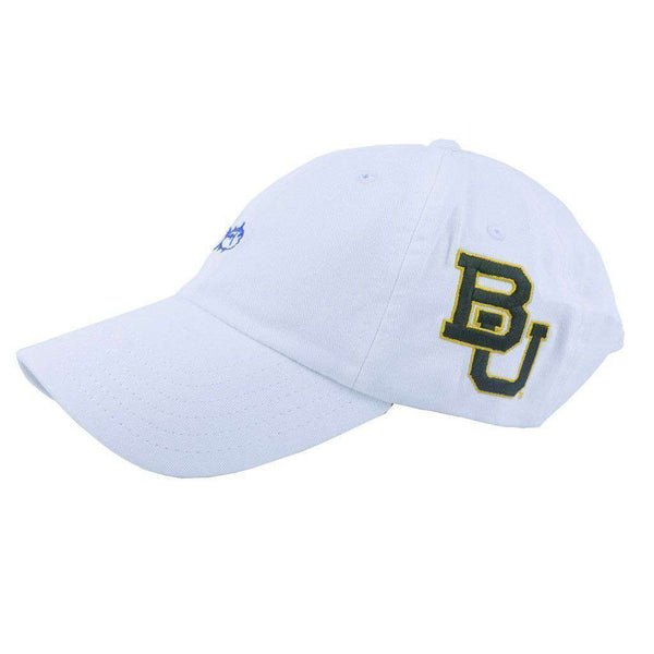 Hats/Visors - Baylor University Collegiate Skipjack Hat In White By Southern Tide