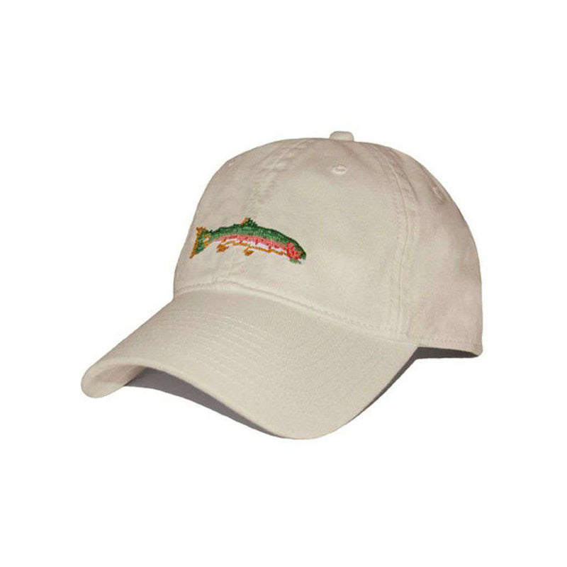Hats/Visors - Big Trout Needlepoint Hat In Stone By Smathers & Branson