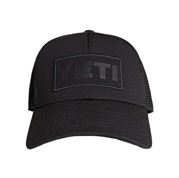 Hats/Visors - Black On Black Patch Trucker Hat In Black By YETI