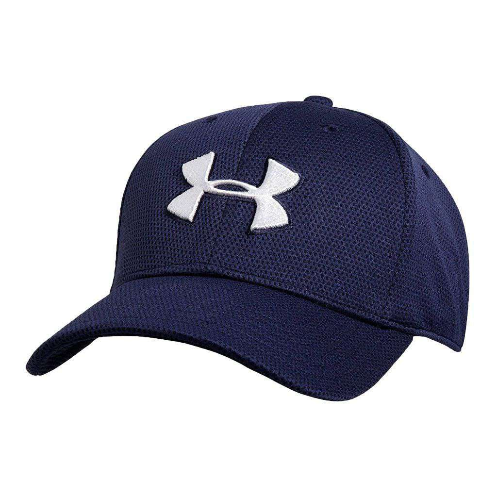 Hats/Visors   Blitzing II Stretch Fit Hat In Midnight Navy By Under Armour