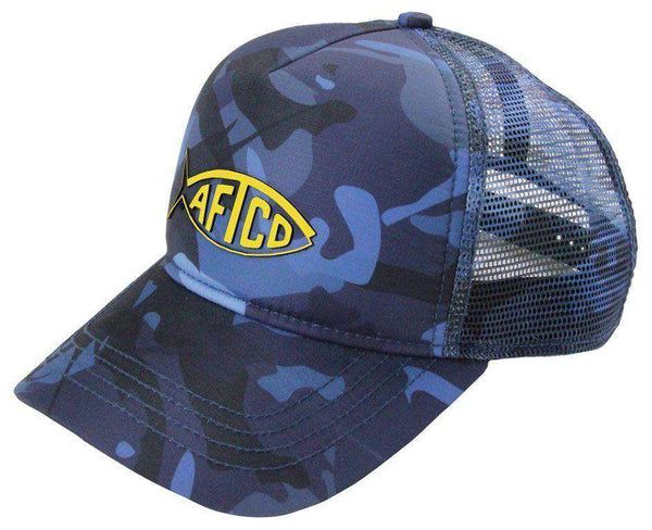 Blue Camo Trucker Hat by AFTCO